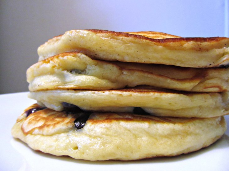 Bb ricotta pancakes stacked