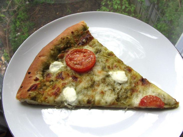 Pesto Pizza slice 1