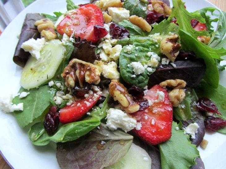 Strawberry, Walnut and Feta Salad angle
