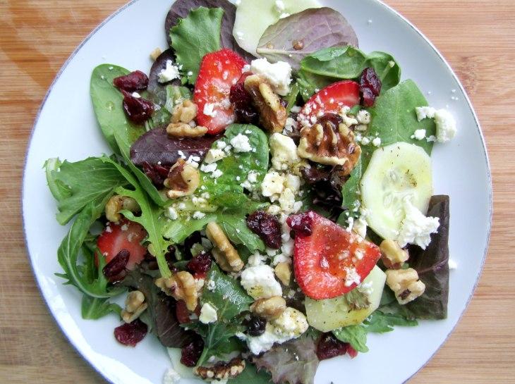 Strawberry, Walnut and Feta Salad