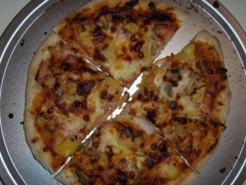 Ham&pineapple pizza