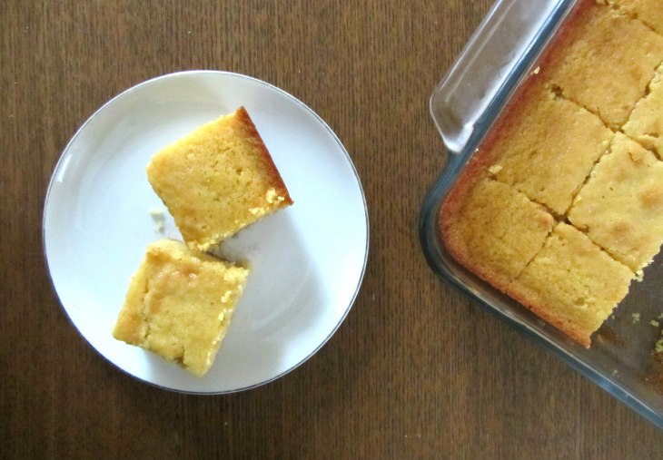 Honey cornbread top