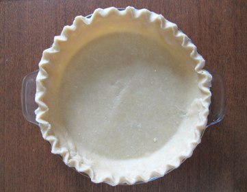 Pie crust in pan