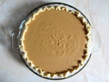 Pumpkin pie raw