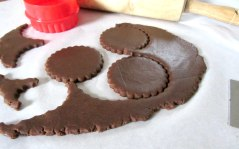 Chocolate cutout cookies cuts