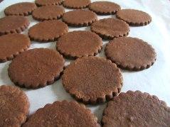 Chocolate cutout cookies plain