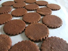 Chocolate cutout cookies plain