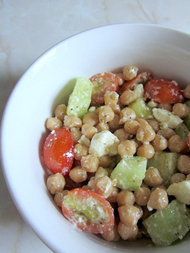 Chickpeas and feta salad $