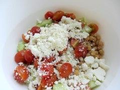 Chickpeas and feta salad dry