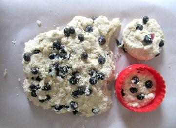 Blueberry Drop Scones cuts