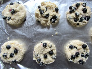 Blueberry Drop Scones raw