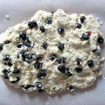 Blueberry Drop Scones slab